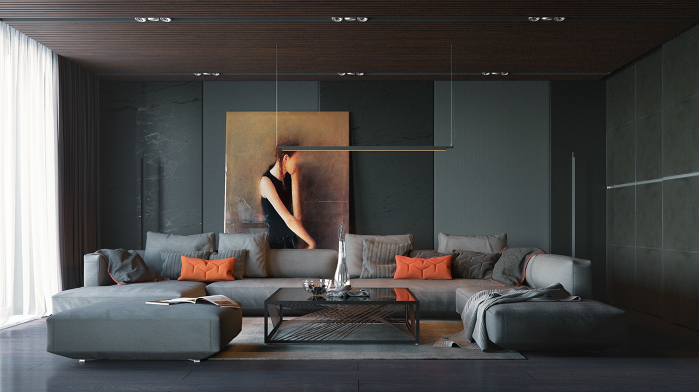 orange-and-black-interior-artwork-ideas