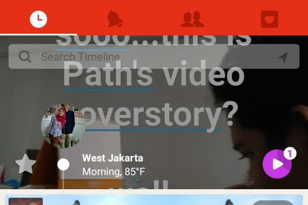 Video Coverstory ala Path